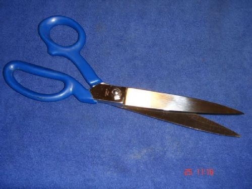 "Carpet Tailor Dressmakers 10"" 250mm Scissors Shears with PVC Coated Handles Knife Edge"